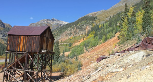 Silverton mining claim mill looking west