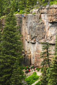 Climbers at Lime Creek Canyon Durango CO