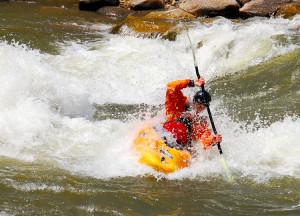 Animas River kayaker in Durango CO