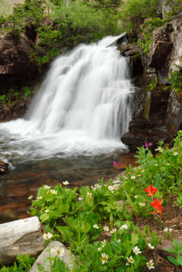 Waterfall in Columbus Basin near Durango CO