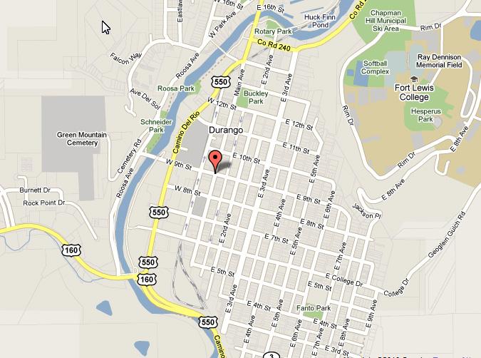 map to 901 Buy Durango