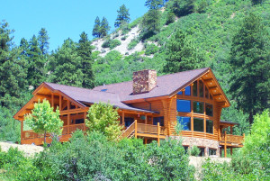 Durango CO real estate for sale- Custom log home
