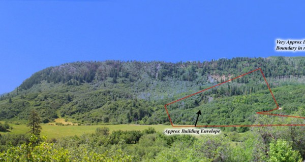 TBD Destination Ranch Rd pan looking at parcel with boundaries