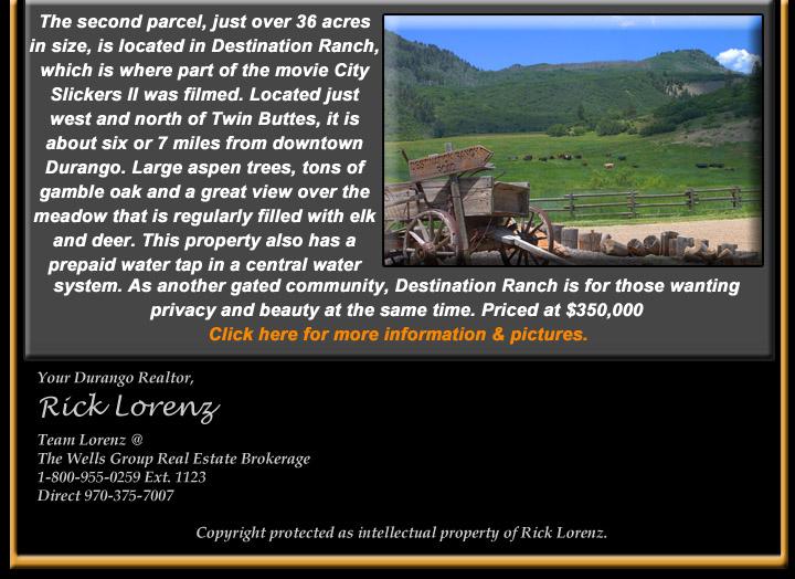 e-newsletter June 2016 Destination Ranch vacant land for sale in Durango CO
