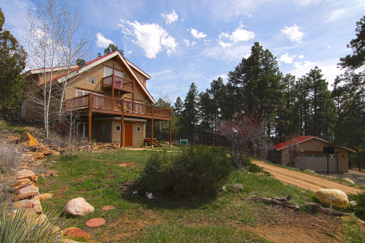 Durango CO real estate front of house with garage