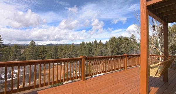 Durango CO Real Estate 157 Fantango balcony swing looking at views