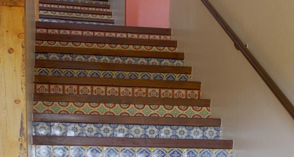 Durango CO Real Estate 157 Fantango stairs with tiles