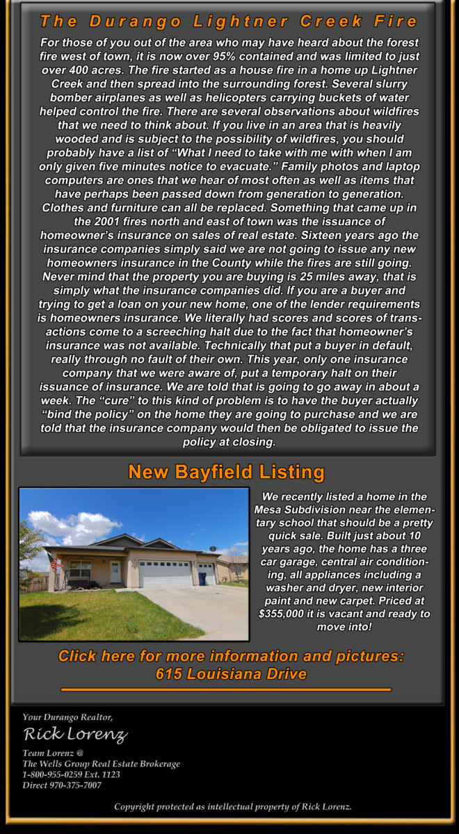 Durango Real Estate ENewsletter July  Bottom Half New Listing